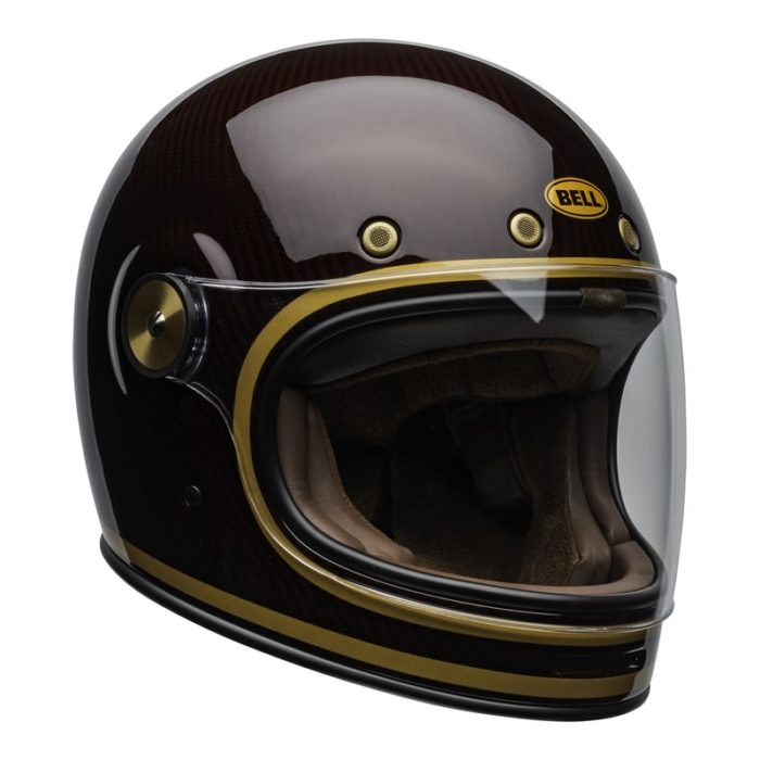 bell-bullitt-carbon-culture-helmet-transcend-gloss-candy-red-gold-clear-shield-front-right